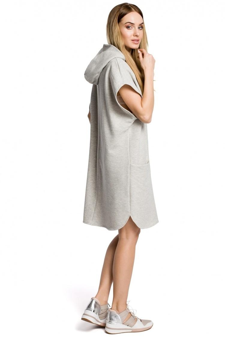 Sukienka Model MOE368 Popiel - Moe