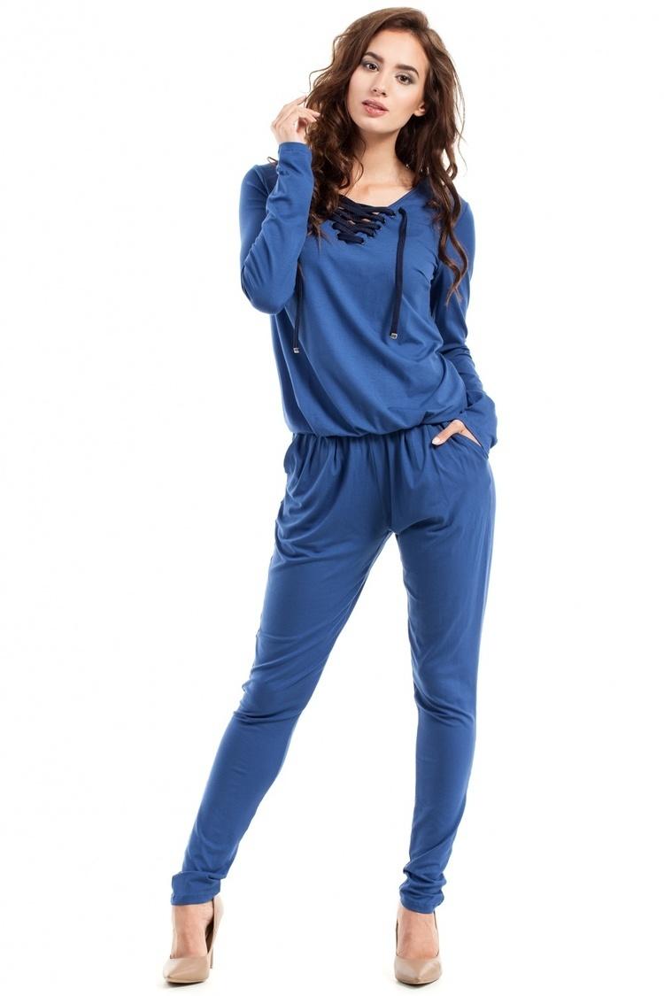 Kombinezon Damski Model MOE241 Jeans - Moe