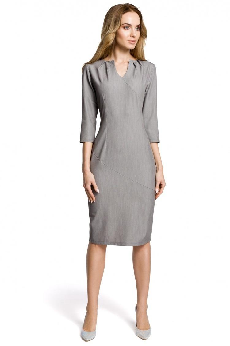 Sukienka Model MOE366 Grey - Moe