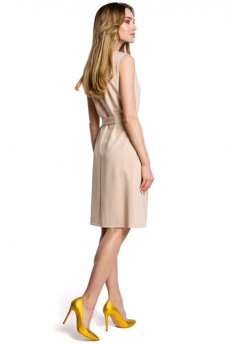 Sukienka Model MOE365 Beige - Moe
