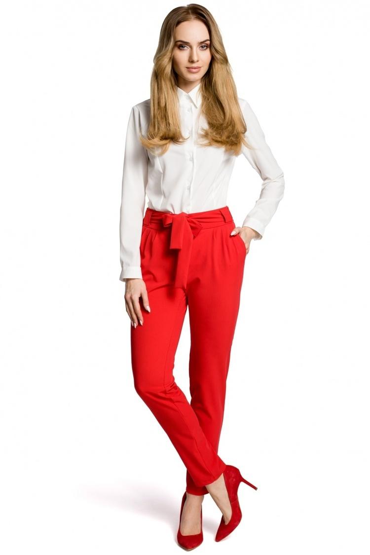 Spodnie Damskie Model MOE363 Red - Moe