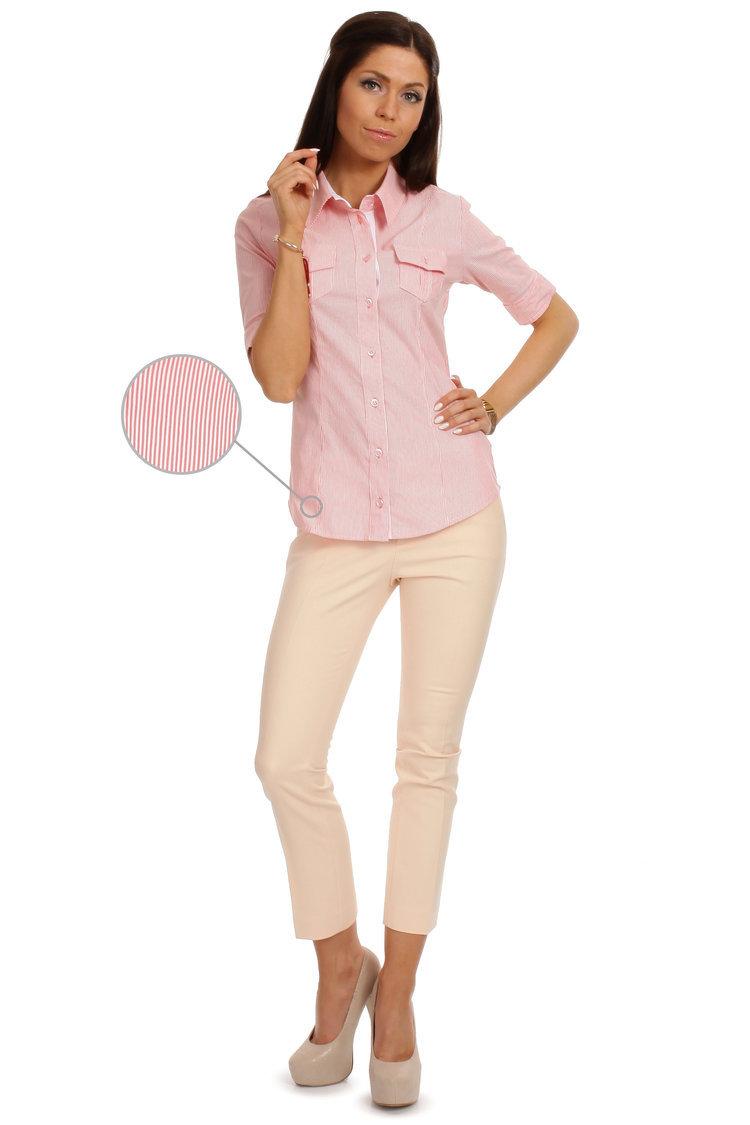 Koszula MOE027 Pink - Moe