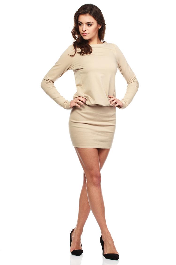 Sukienka Model MOE143 Beige - Moe