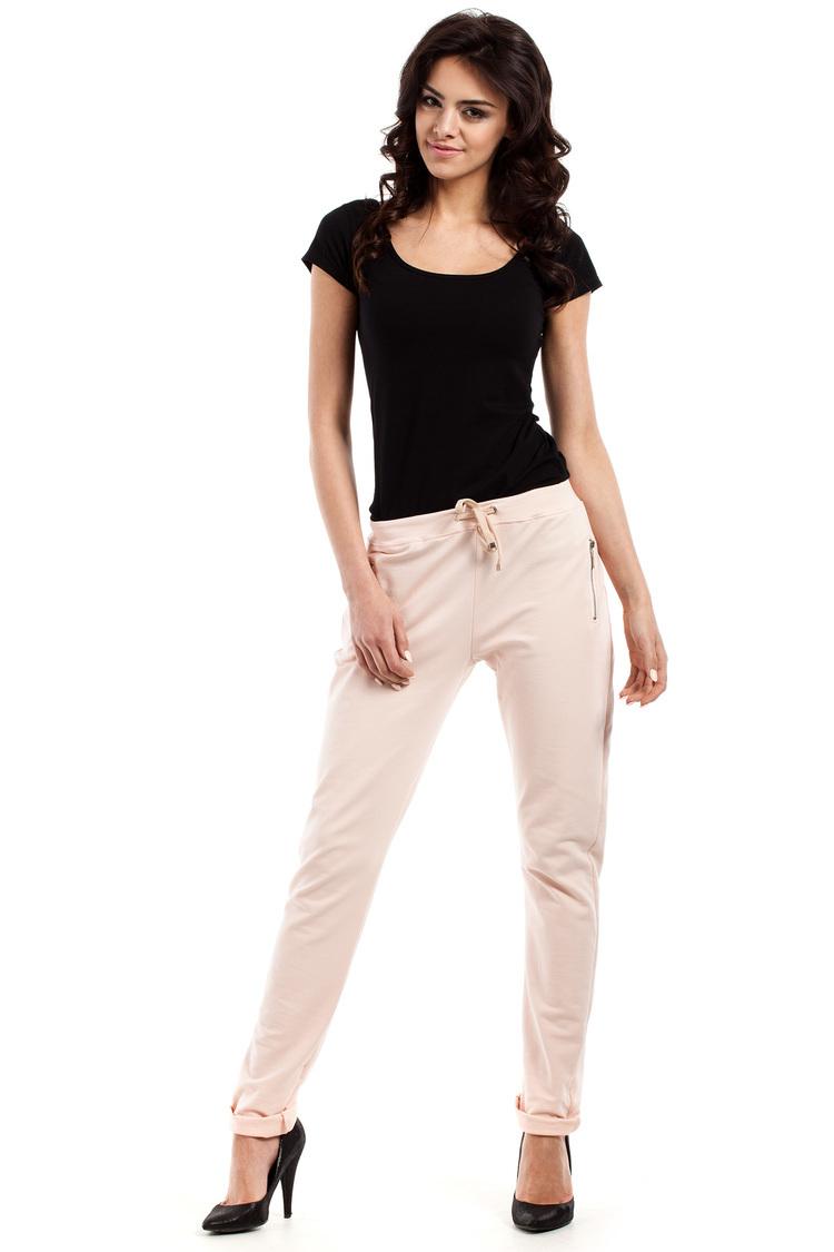Spodnie Dresowe Model MOE208 Peach - Moe