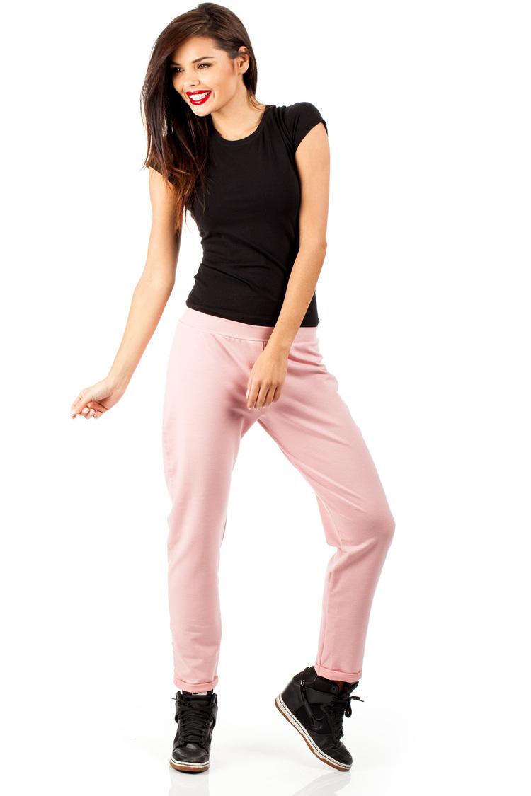 Spodnie dresowe MOE055 Pink - Moe