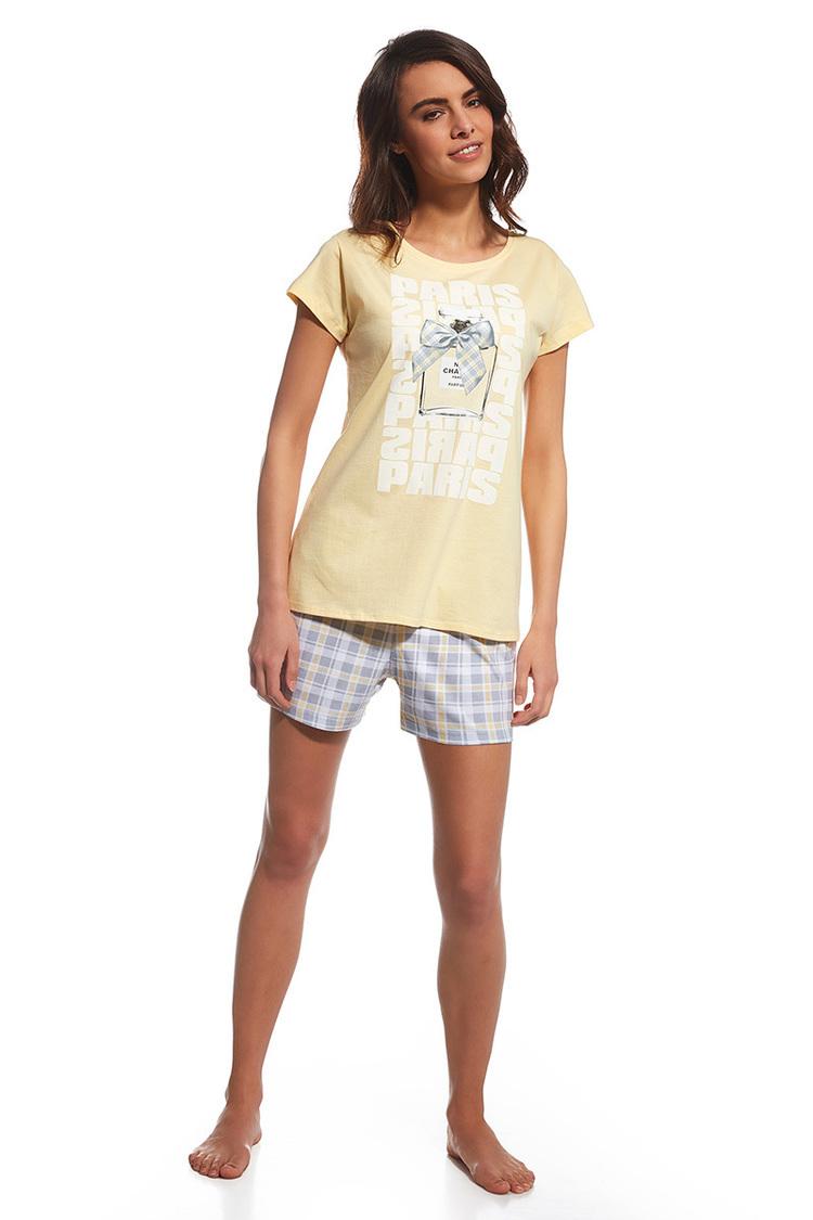 Piżama Damska Model Parfum 665/99 Trzyczęściowa Yellow - Cornette