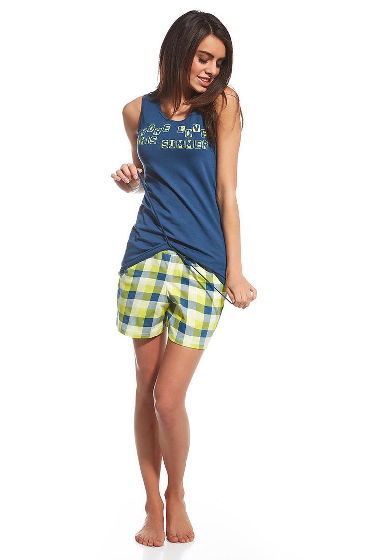 Piżama Damska model More Love 659/104 Blue/Green - Cornette