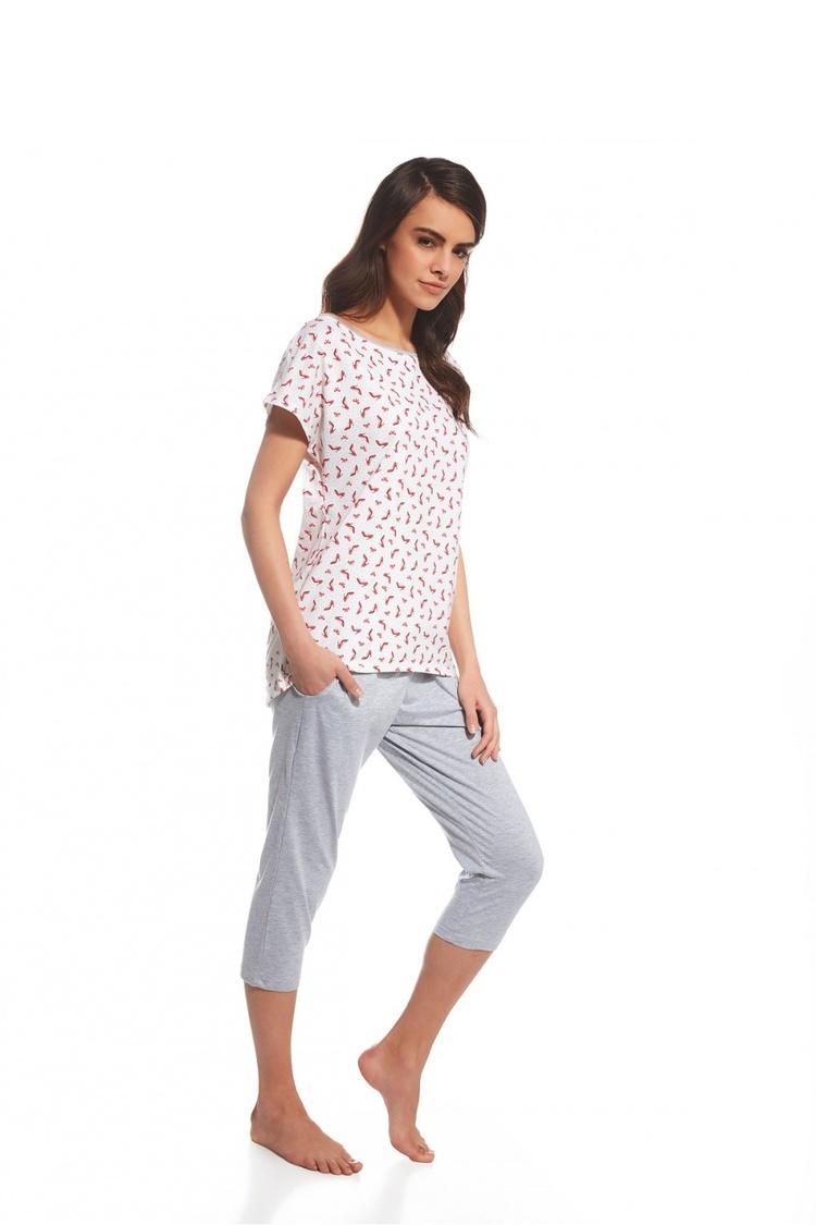 Piżama Damska Model Cindy 055/106 Pink/Grey - Cornette