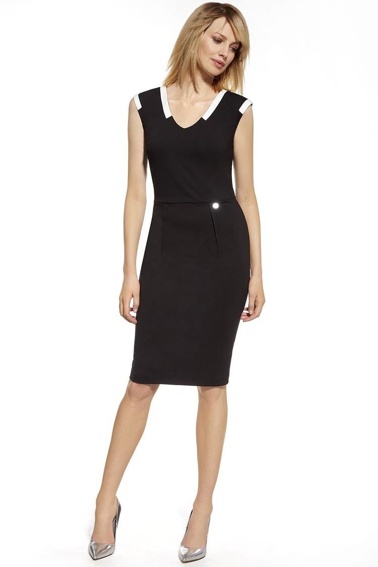 Sukienka Model 230035 Black/Ecru - Enny