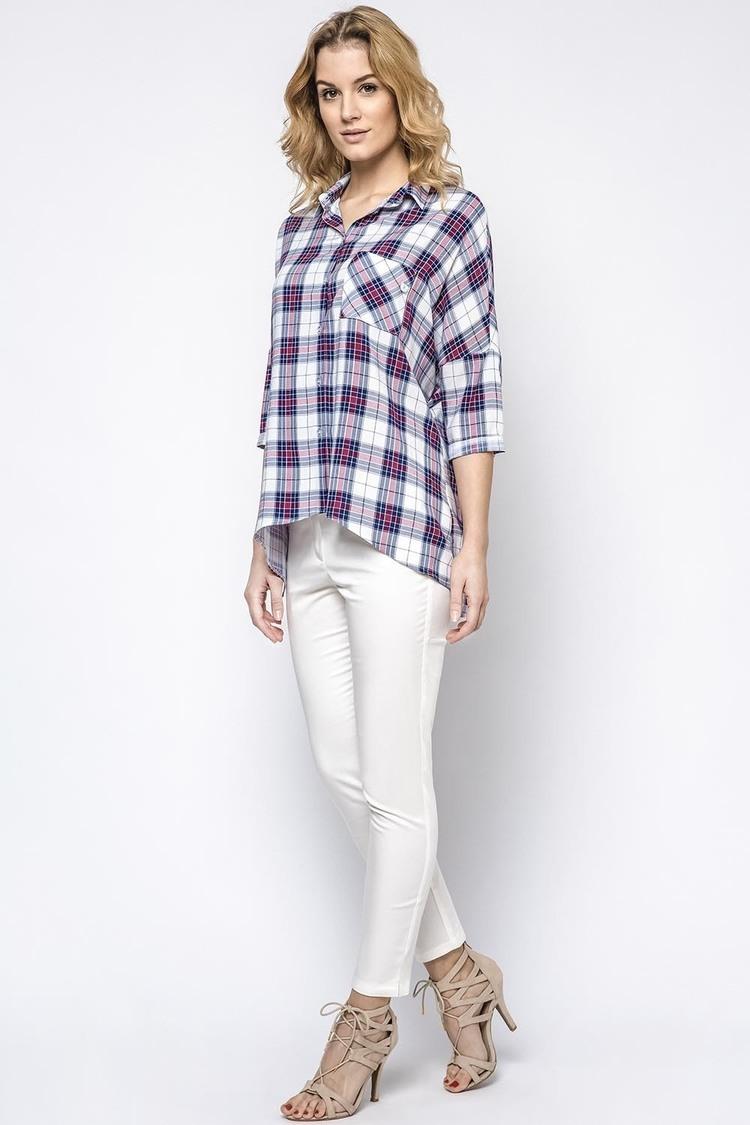 Koszula Damska Model 230139 White/Violet - Enny