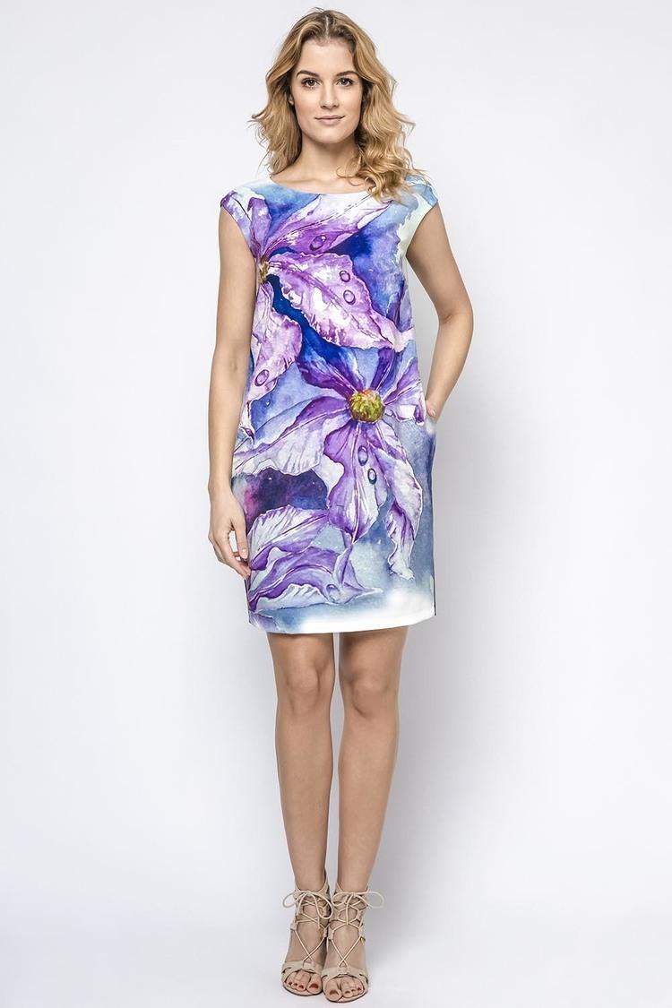 Sukienka Model 230182 Navy/Violet - Enny