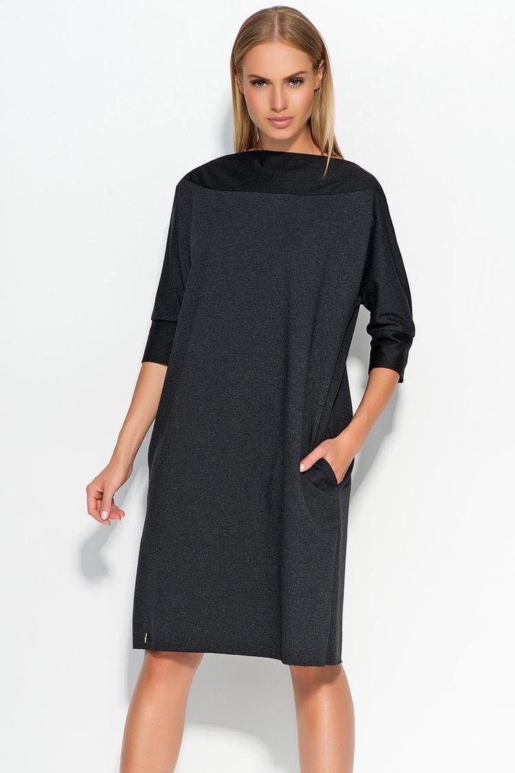 Sukienka Model M317 Grafit/Melange - Makadamia