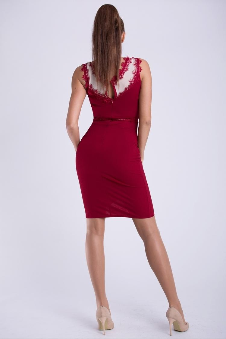 Sukienka Model 17419 Bordo - YourNewStyle