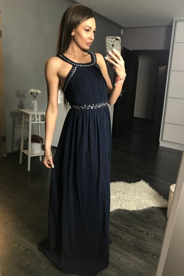 Sukienka Wieczorowa Model 17785 Navy - YourNewStyle