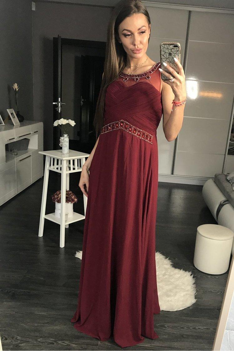 Sukienka Wieczorowa Model 17773 Oberżyna - YourNewStyle