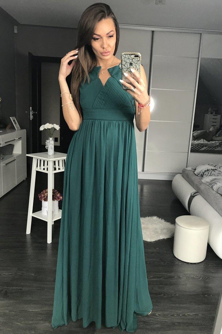 Sukienka Wieczorowa Model 17795 Green - YourNewStyle