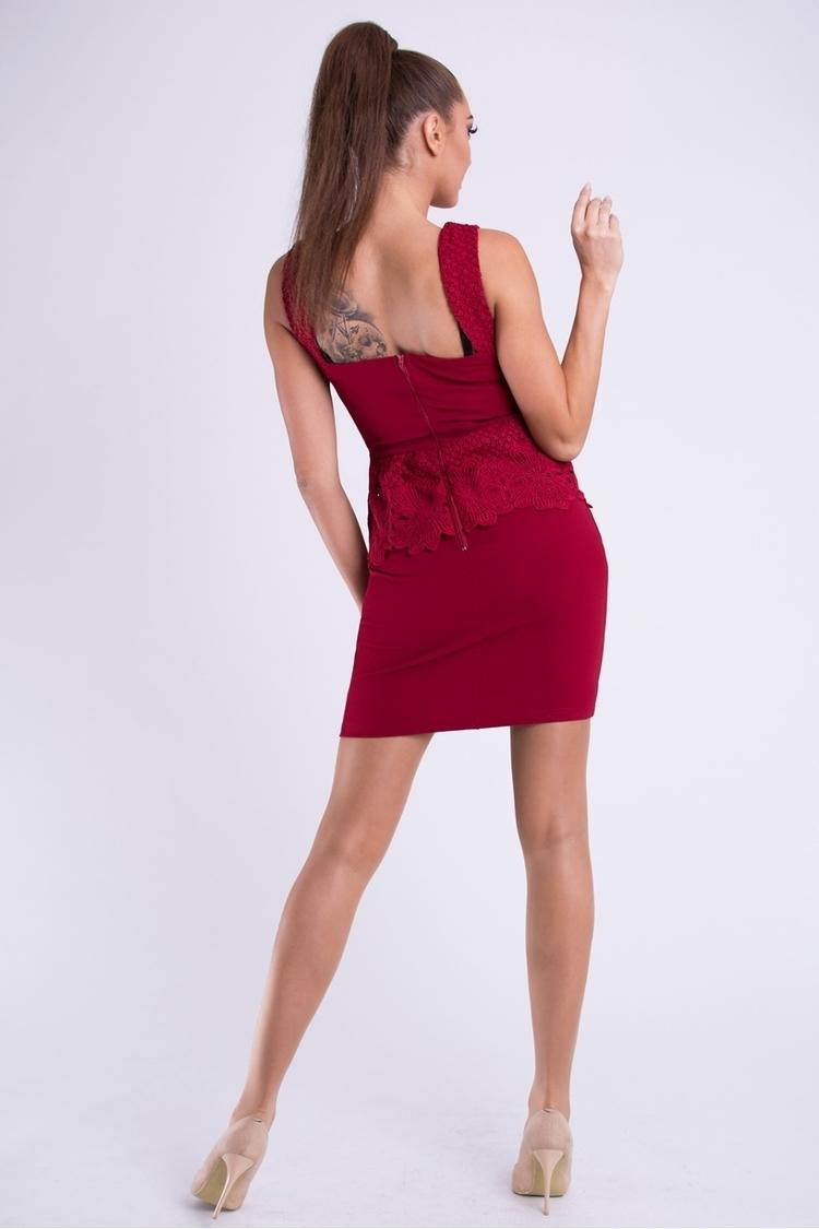 Sukienka Model 17427 Bordo - YourNewStyle