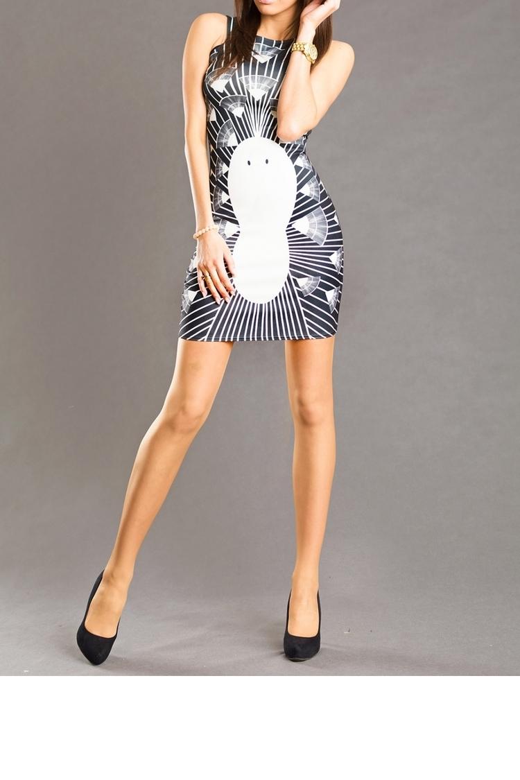 Sukienka Model 15292 White/Black - YourNewStyle