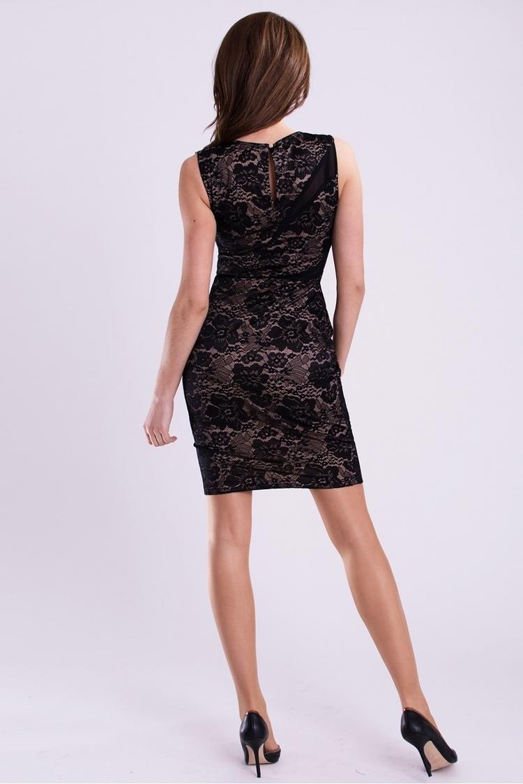 Sukienka Model 17025 Cream/Black - YourNewStyle