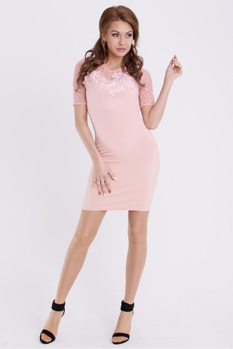 Sukienka Model 17068 Peach - YourNewStyle