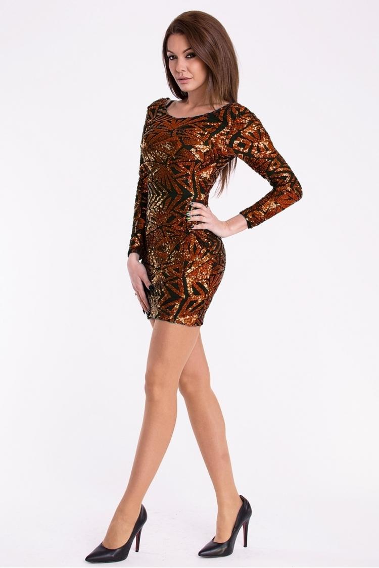 Sukienka Model 16940 Miedziany - YourNewStyle