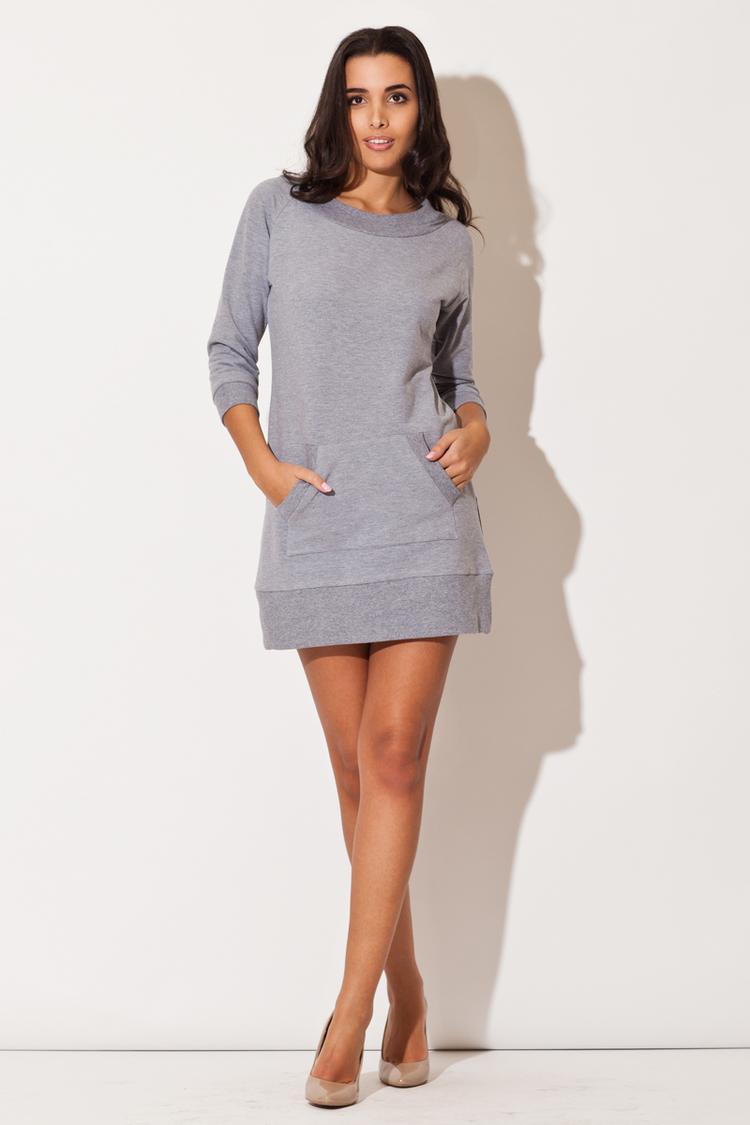 Sukienka Model K144 Grey - Katrus