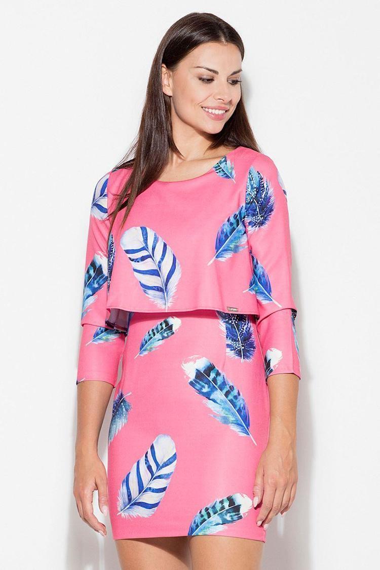 Sukienka Model K426 Wzór 52 Pink - Katrus