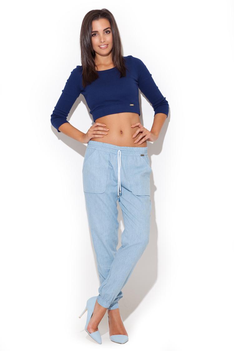 Spodnie Damskie Model K217 Sky Blue - Katrus