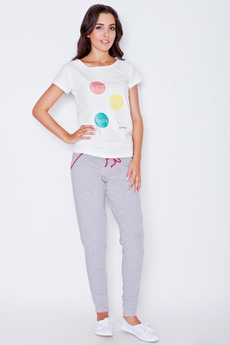 Spodnie Damskie Model K277 Grey/Pink - Katrus
