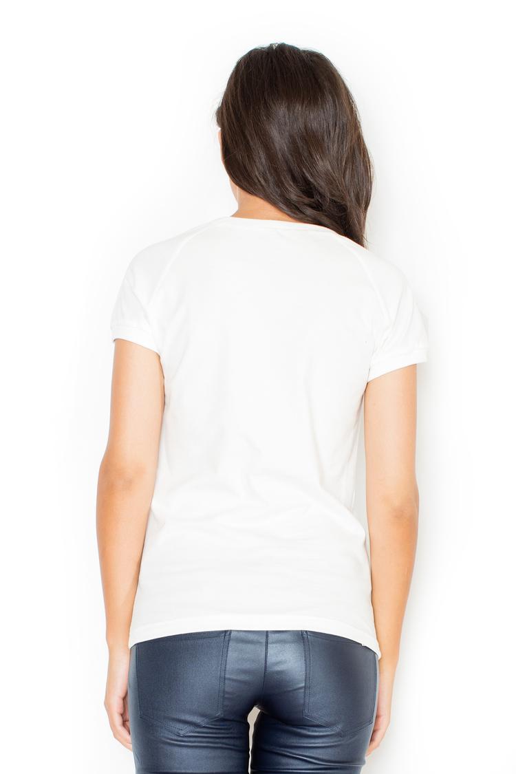 Tshirt Damski Model K236 White - Katrus