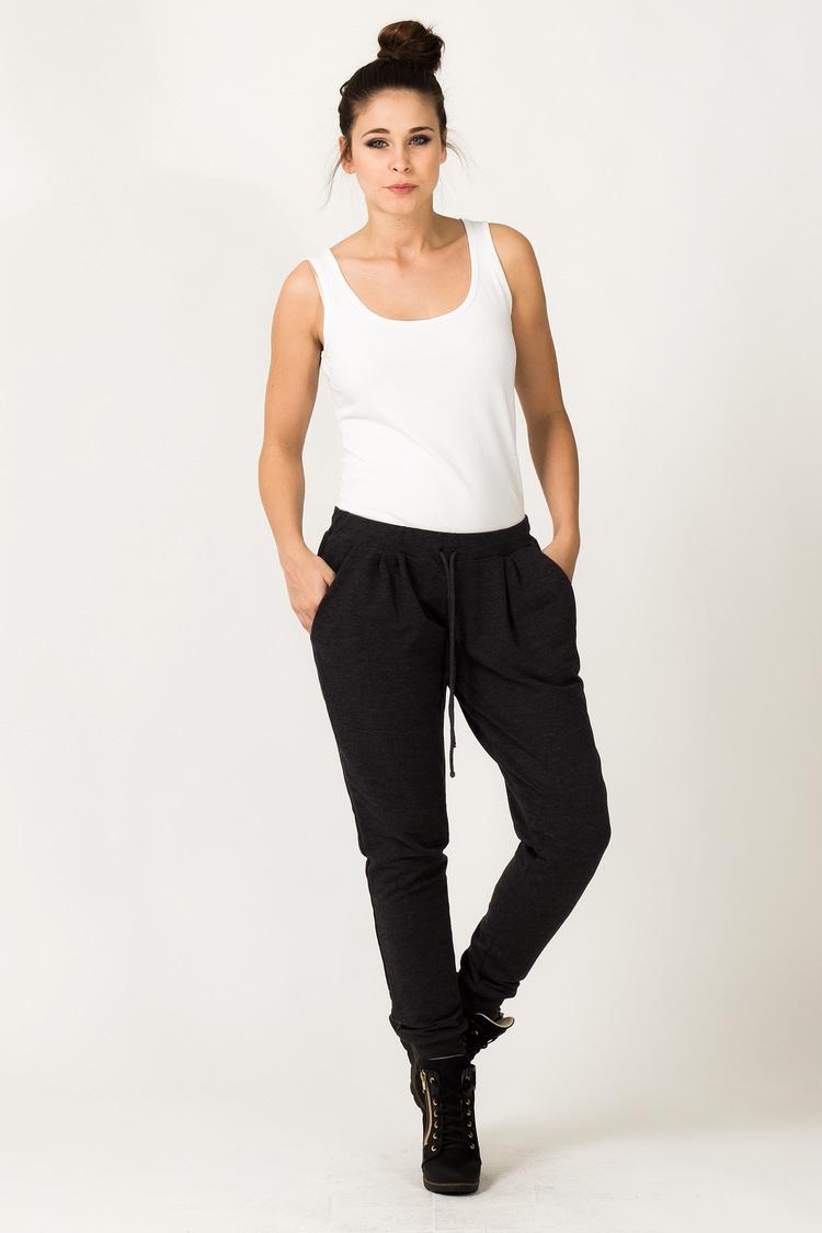 Spodnie Damskie Model Alina 1 Dark Grey - Tessita