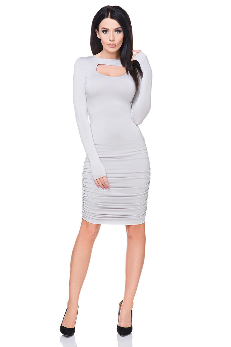 Sukienka Model T160 Light Grey - Tessita