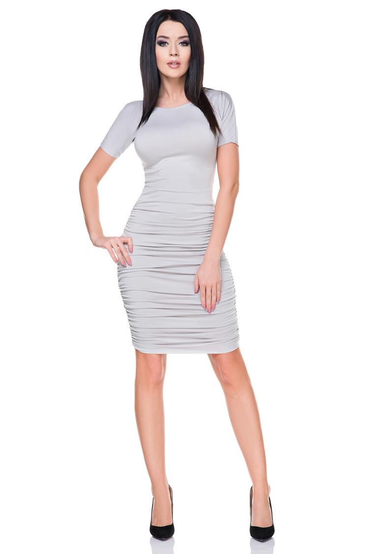 Sukienka Model T159 Light Grey - Tessita