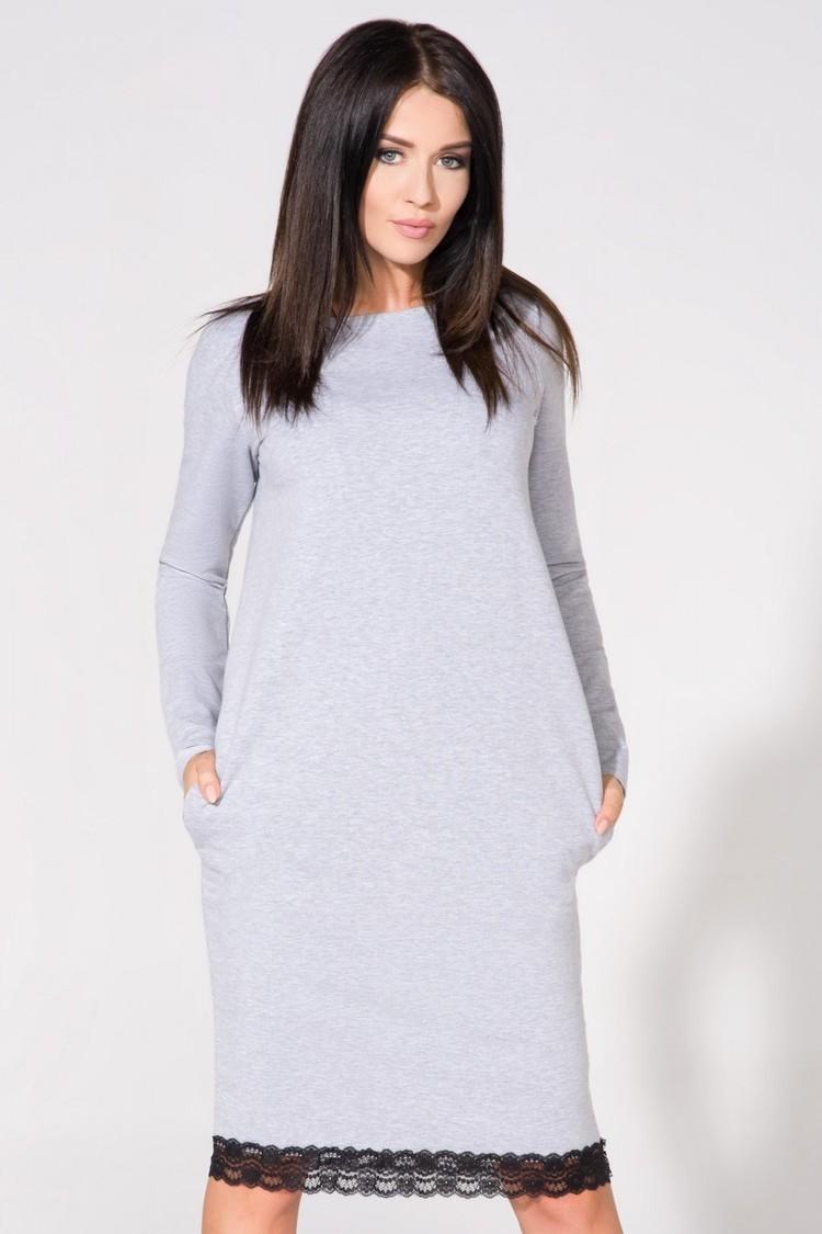 Sukienka Model T145 Light Grey - Tessita