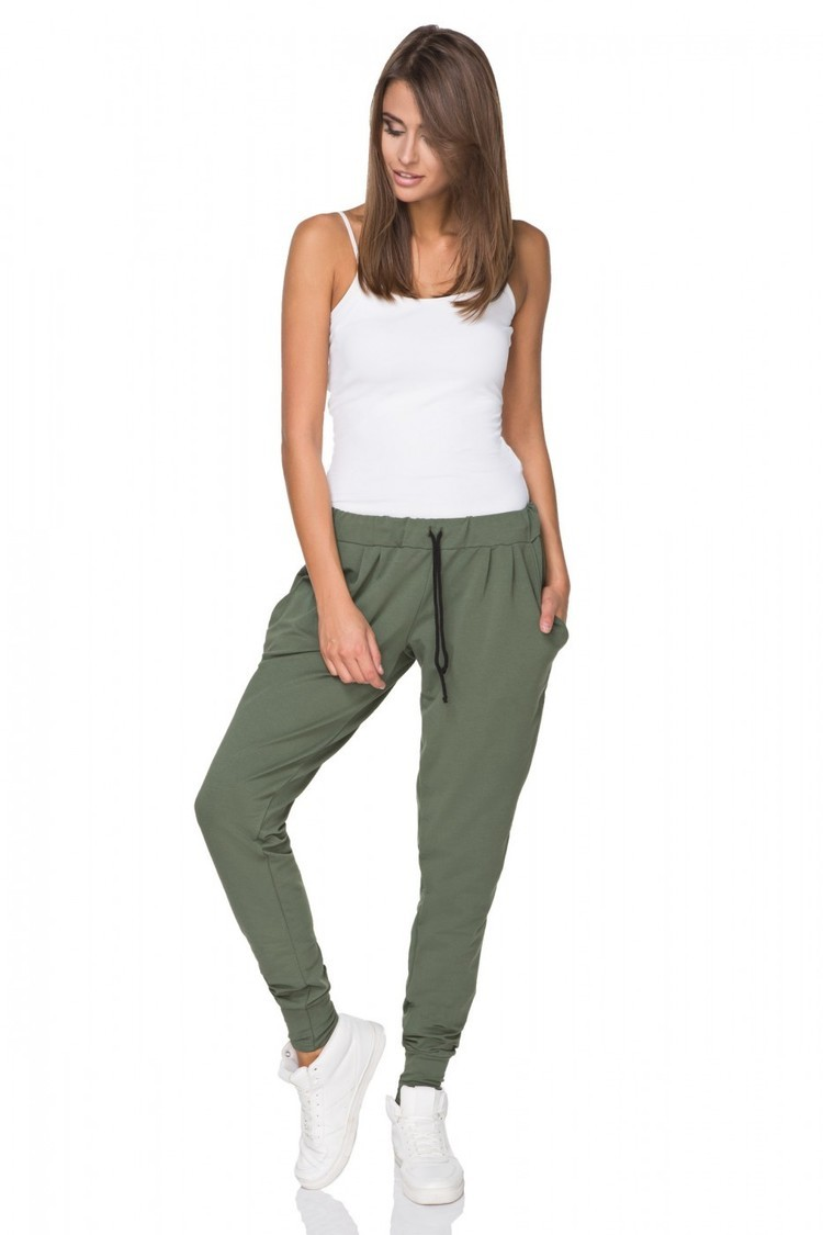 Spodnie Damskie Model T213/2 Green - Tessita