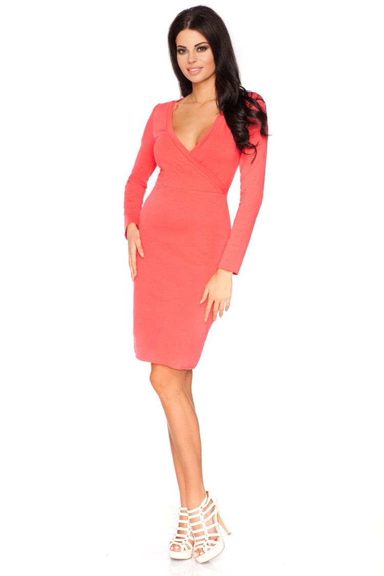 Sukienka Model Olga 3 Coral - Tessita
