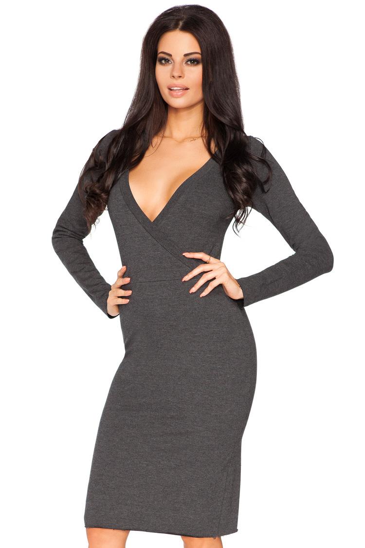 Sukienka Model Olga 2 Dark Grey - Tessita