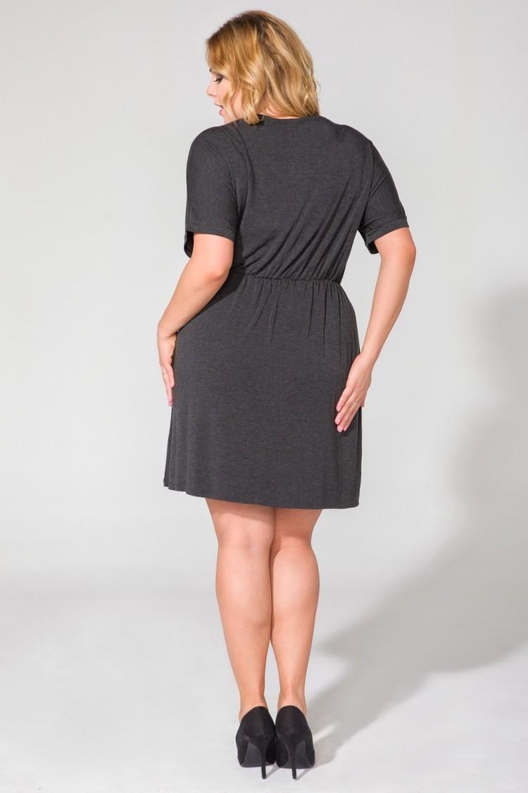 Sukienka Model PS5 Dark Grey - Tessita