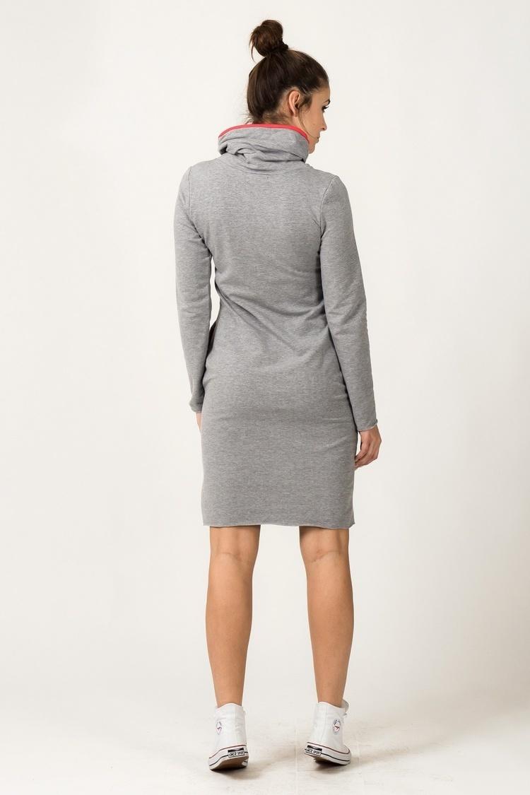 Sukienka model Kaja Light Gray/Coral - Tessita