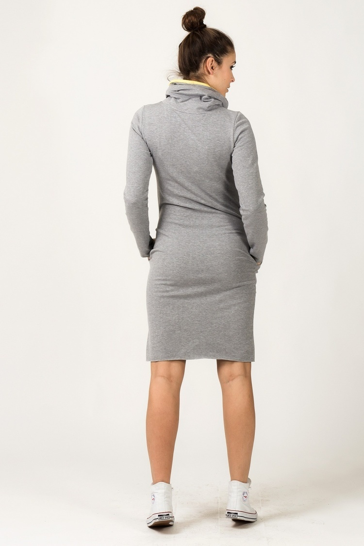 Sukienka model Kaja Light Gray/Yellow - Tessita