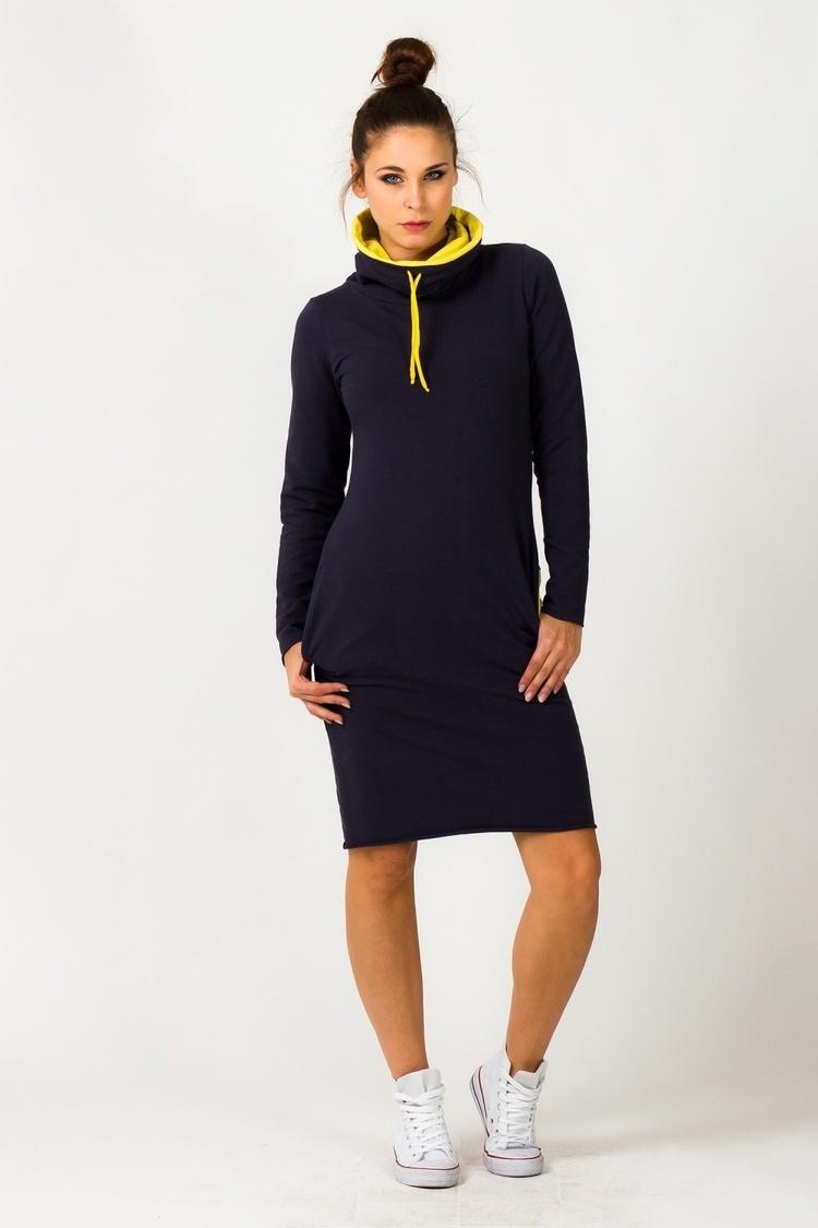Sukienka model Kaja Navy/Yellow - Tessita