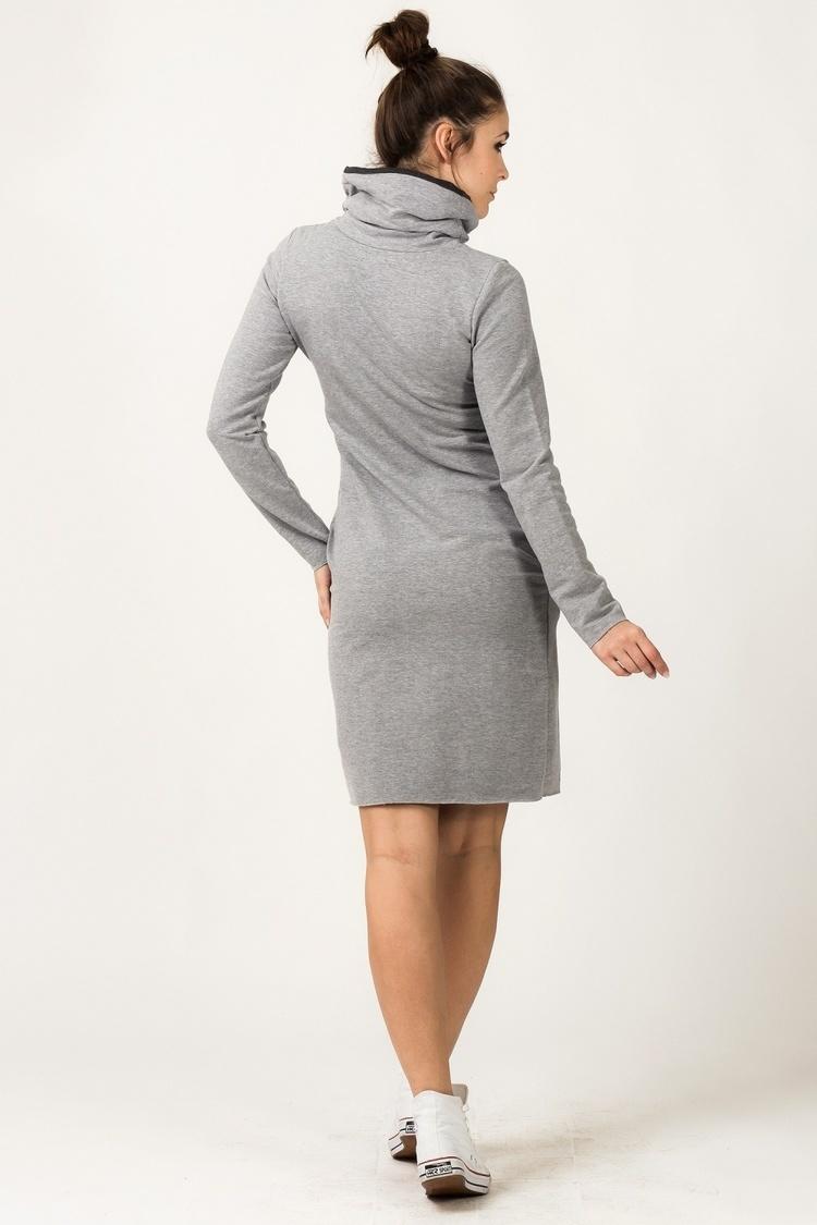 Sukienka model Kaja Light Gray/Dark Gray - Tessita