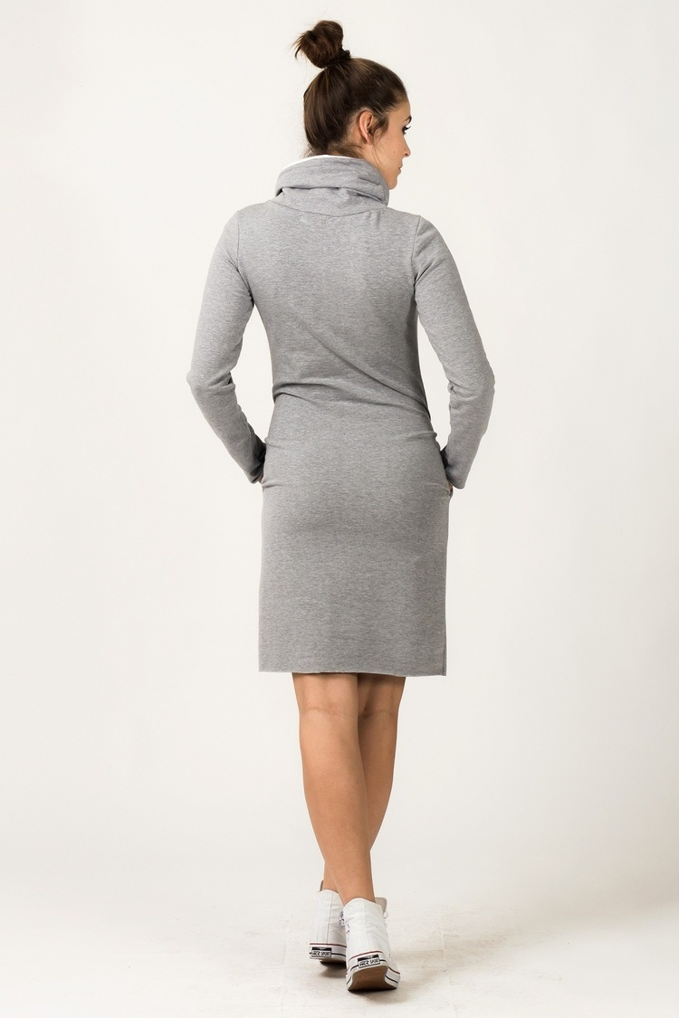 Sukienka model Kaja Light Gray/White - Tessita
