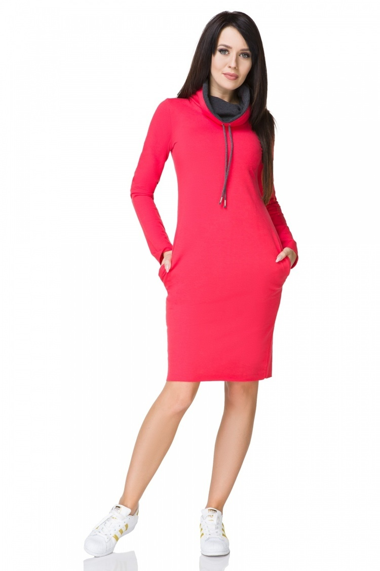 Sukienka model Kaja12 Coral/Dark Gray - Tessita