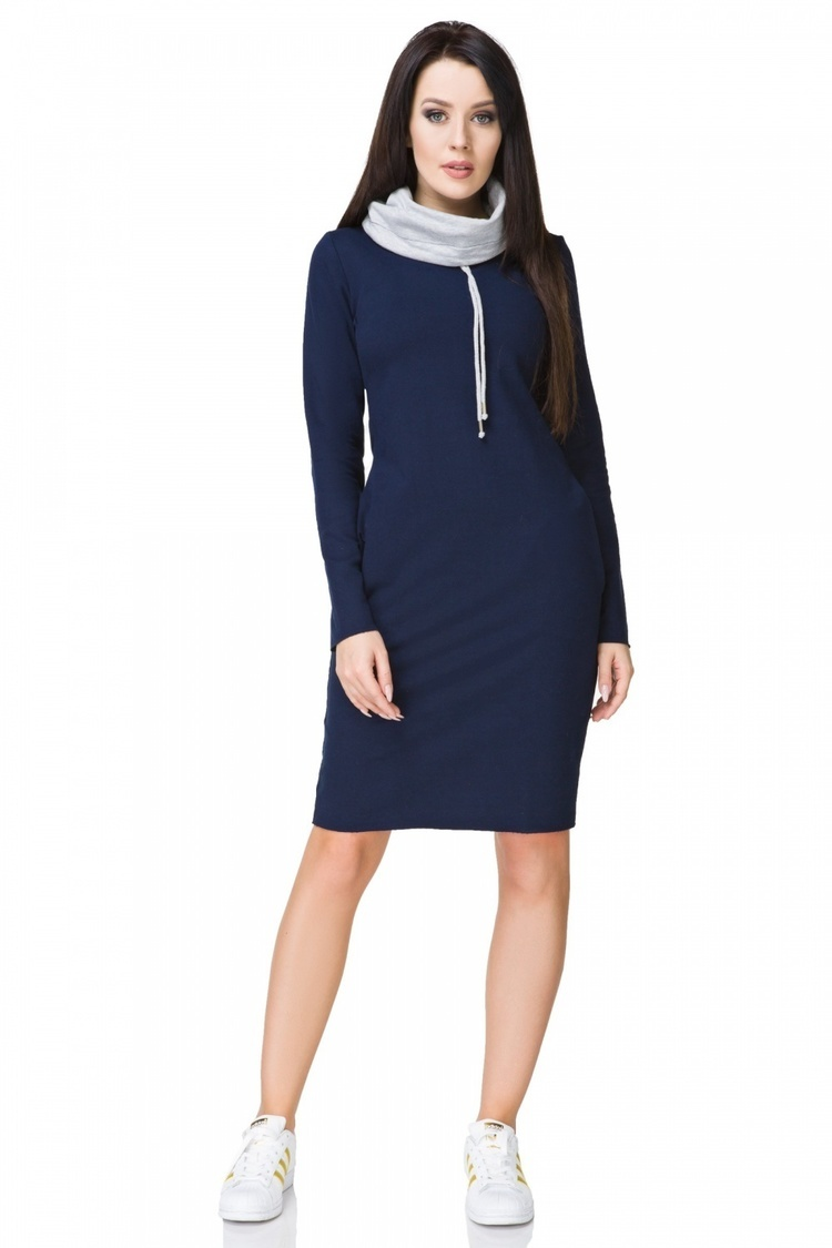 Sukienka model Kaja2 Navy/Light Gray - Tessita