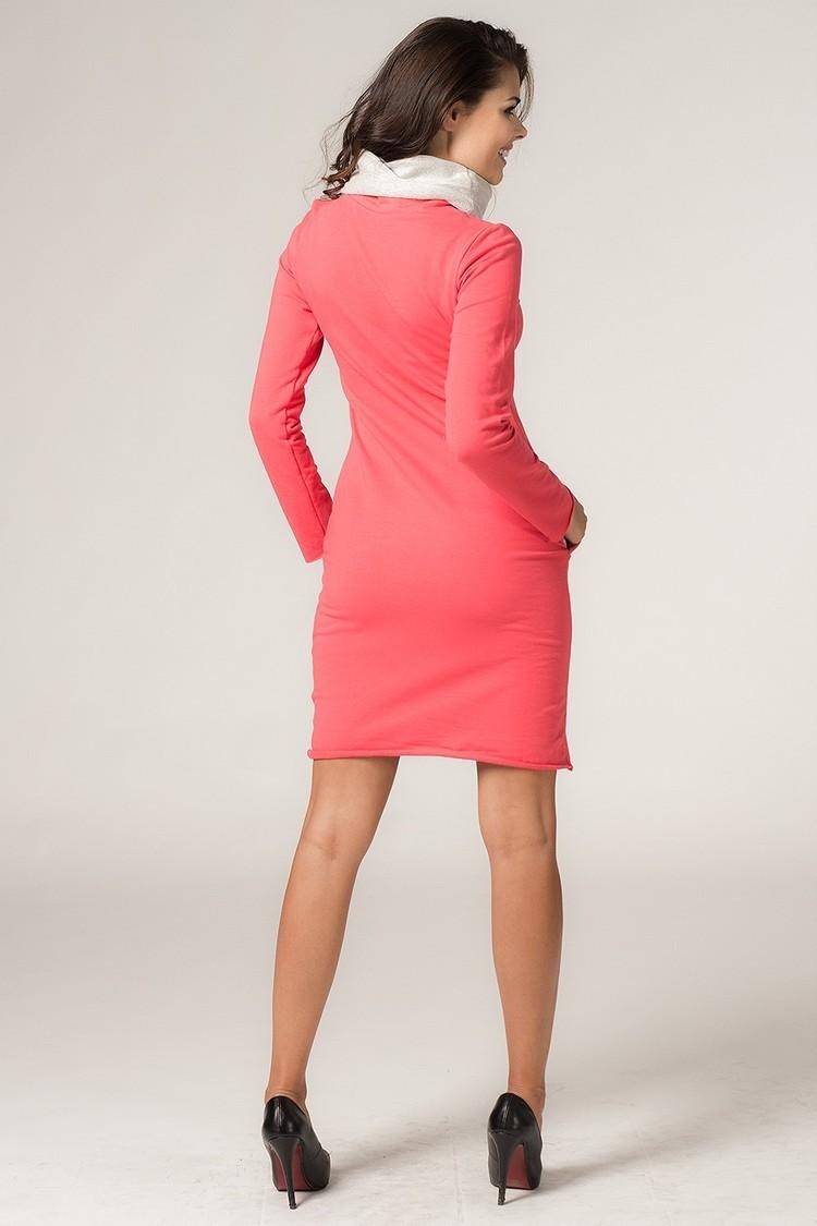 Sukienka model Kaja1 Coral/Light Gray - Tessita