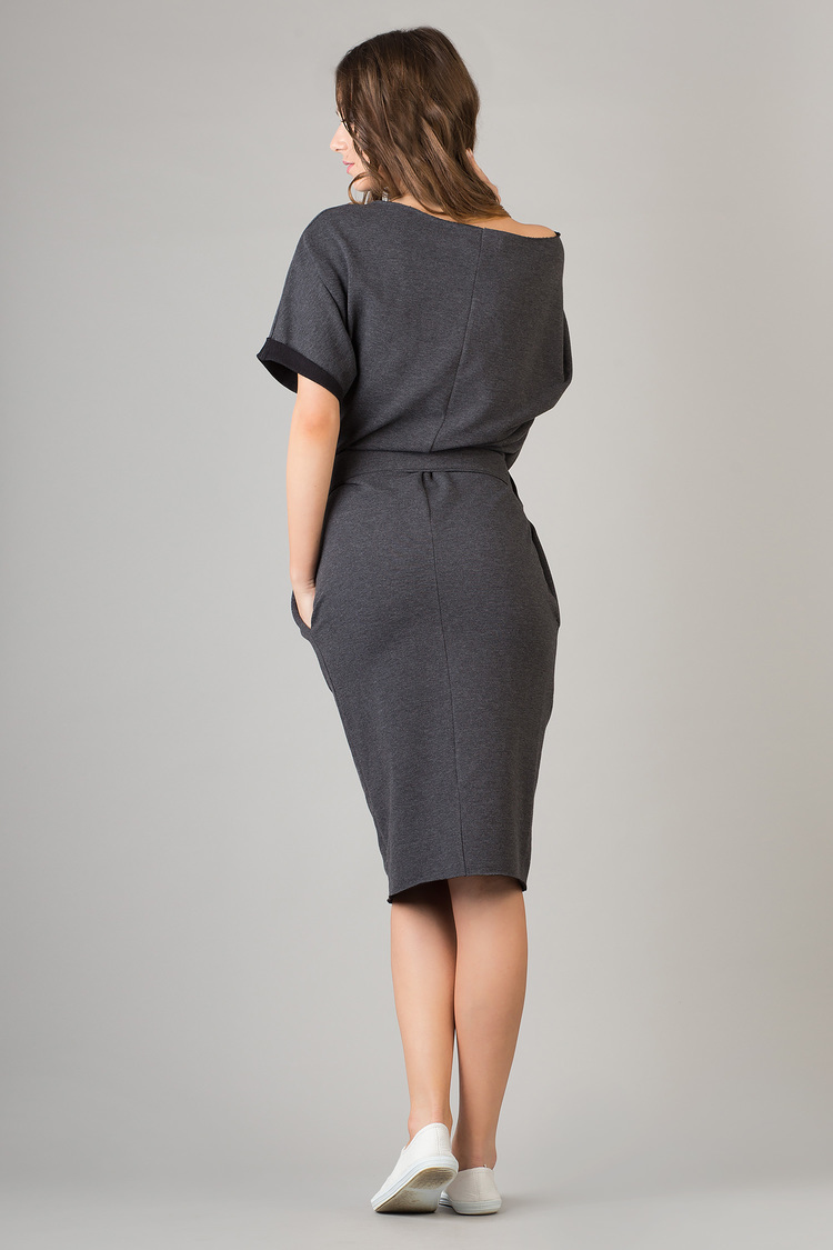 Sukienka Model Aleksandra 9 Dark Grey - Tessita