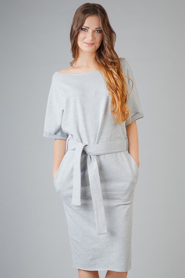 Sukienka Model Aleksandra 8 Light Grey - Tessita
