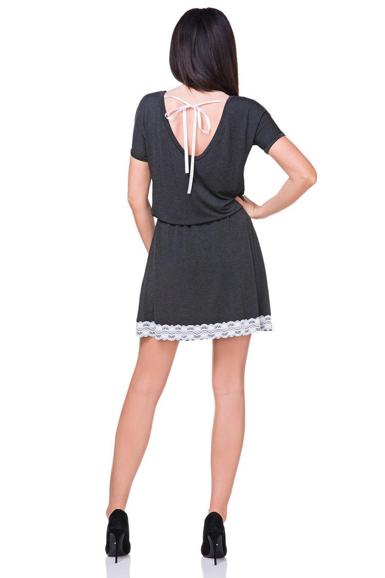 Sukienka Model T171 Dark Grey - Tessita