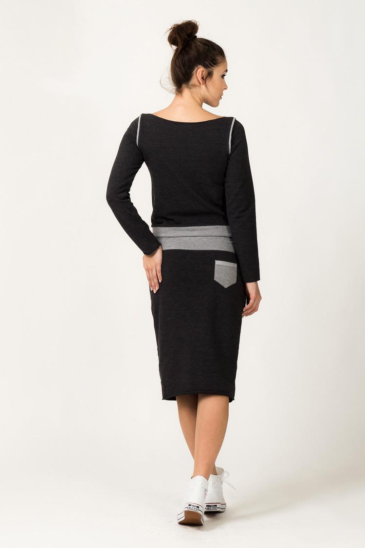 Spódnica Model Mila 5 Dark Grey/Light Grey - Tessita